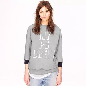 J CREW Public School PS Sweatshirt Womens Sz S